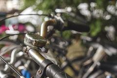 Bycicle bell close up. Dutch bycicle bell close up Stock Photos