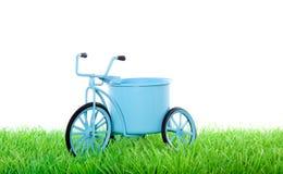 Bycicle blu olandese di trasporto Immagini Stock