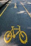 Bycicle drogowy znak Fotografia Royalty Free
