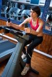 bycicle gym kobieta Obrazy Royalty Free