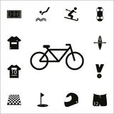 Bycicle icon. Detailed set of Sport icons. Premium quality graphic design sign. One of the collection icons for websites, web desi. Gn, mobile app on white stock illustration