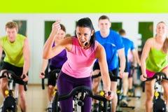 bycicle kolarstwa gym salowy fotografia stock