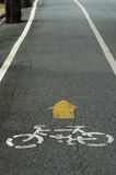 Bycicle Lane Sign Royalty Free Stock Photos