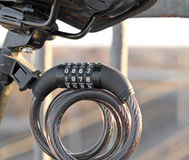 Bycicle lock Royalty Free Stock Images