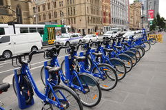Bycicle. A lot of bycicle in Melbourne Australia .Taken photo on July 11 2013 Stock Photography