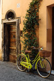 Bycicle in old street in Rome, Italy Royalty Free Stock Photography