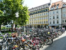 Bycicle parking Stock Photography