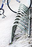 Bycicle parking rack Stock Photo