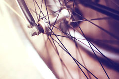 Bycicle particular blured Royalty Free Stock Photography