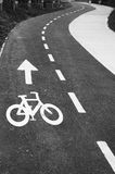 Bycicle path Royalty Free Stock Photos