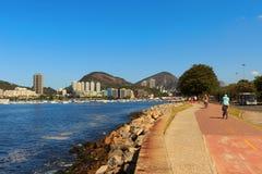 Bycicle path near Botafogo beach, Rio de Janeiro Stock Photo