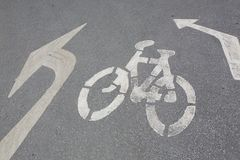 Bycicle road sign. Stock Photos