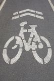Bycicle road sign. Royalty Free Stock Photos