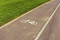 Bycicle road sign Stock Images