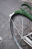 Bycicle's details. A bycicle's close up in an italian street Stock Photography