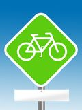 Bycicle sign Stock Photography