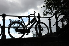 Bycicle silhouette Stock Image