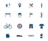 Bycicle simply icons Royalty Free Stock Image