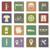 Bycicle simply icons Stock Image