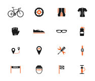 Bycicle simply icons Royalty Free Stock Photos