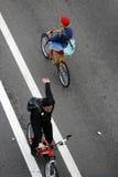 Bycicleruiters Royalty-vrije Stock Foto