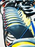 Bycicles für Miete in Wien Stockbilder