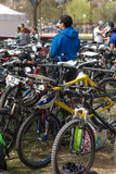 Bycicles Parking Royalty Free Stock Image