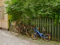 Bycicles verließ Lizenzfreie Stockfotos