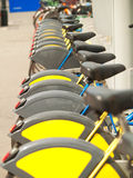 Bycicles voor huur in Wenen Stock Foto's