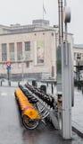 Bycicles w w centrum Bruksela Zdjęcie Stock