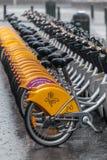Bycicles w w centrum Bruksela Fotografia Stock