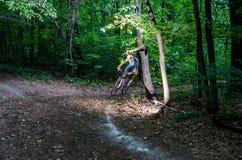Byciclyst lascia una girata Immagini Stock Libere da Diritti