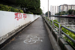 Bycycle lane Royalty Free Stock Photos
