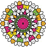 Bycza kolorowa błazen kurenda ilustracja wektor