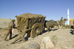 Bydło prowadnikowa porcja losu angeles Jornada brązowej rzeźby grupa Betty Sabo plenerowymi rzeźbami przy Albuquerque muzeum sztu Obrazy Royalty Free