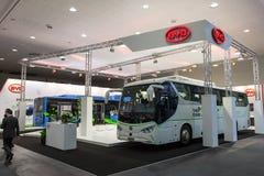 BYD elektryczni autobusy Zdjęcia Royalty Free