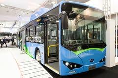 BYD elektryczny autobus Zdjęcie Stock