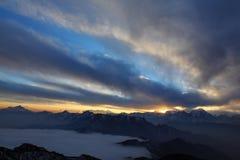Bydło góry sceneria Zdjęcie Royalty Free
