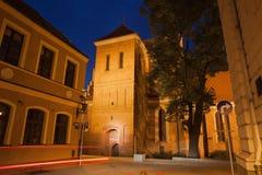 Bydgoska katedra nocą w Polska obrazy stock