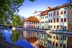 Bydgoszcz Венеция на реке Brda Стоковые Фото