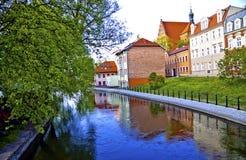Bydgoszcz Венеция на реке Brda Стоковое Фото