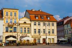 Bydgoszcz, Польша, 31-ое мая 2018: Старый городок в Bydgoszcz Bydgoszcz архитектурноакустически богатый город, с нео-готическим,  стоковая фотография