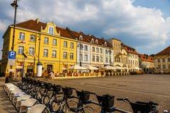 Bydgoszcz, Польша, 31-ое мая 2018: Старый городок в Bydgoszcz Bydgoszcz архитектурноакустически богатый город, с нео-готическим,  стоковое изображение rf