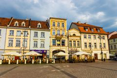 Bydgoszcz, Польша, 31-ое мая 2018: Старый городок в Bydgoszcz Bydgoszcz архитектурноакустически богатый город, с нео-готическим,  стоковая фотография rf