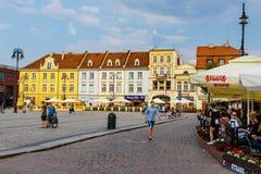 Bydgoszcz, Польша, 31-ое мая 2018: Старый городок в Bydgoszcz Bydgoszcz архитектурноакустически богатый город, с нео-готическим,  стоковое фото