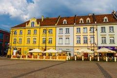 Bydgoszcz, Польша, 31-ое мая 2018: Старый городок в Bydgoszcz Bydgoszcz архитектурноакустически богатый город, с нео-готическим,  стоковые фото