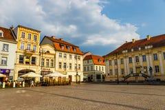 Bydgoszcz, Польша, 31-ое мая 2018: Старый городок в Bydgoszcz Bydgoszcz архитектурноакустически богатый город, с нео-готическим,  стоковые фотографии rf