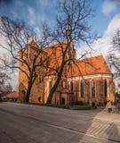 Bydgoszcz - catedral de San Martín y de San Nicolás Fotos de archivo libres de regalías