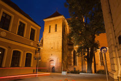 Bydgoszcz Cathedral by Night in Poland Stock Images