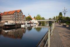 Bydgoszcz Granaries at Brda River in Poland Stock Photo